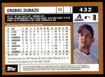2002 Topps #432  Erubiel Durazo  Back Thumbnail