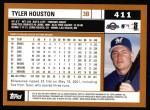 2002 Topps #411  Tyler Houston  Back Thumbnail