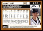 2002 Topps #232  Aubrey Huff  Back Thumbnail