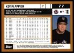 2002 Topps #77  Kevin Appier  Back Thumbnail