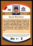 2002 Topps #293  Buck Martinez  Back Thumbnail