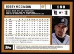 2002 Topps #180  Bobby Higginson  Back Thumbnail