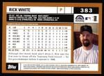 2002 Topps #383  Rick White  Back Thumbnail
