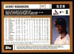 2002 Topps #528  Kerry Robinson  Back Thumbnail