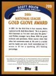 2002 Topps #709   -  Scott Rolen Golden Glove Back Thumbnail