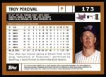 2002 Topps #173  Troy Percival  Back Thumbnail