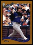 2002 Topps #25  Larry Walker  Front Thumbnail