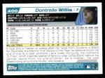 2004 Topps #400  Dontrelle Willis  Back Thumbnail