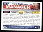 2004 Topps #284  Frank Robinson  Back Thumbnail