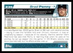 2004 Topps #236  Brad Penny  Back Thumbnail