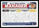 2004 Topps #295  Buck Showalter  Back Thumbnail