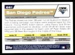 2004 Topps #661   San Diego Padres Team Back Thumbnail