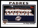 2004 Topps #661   San Diego Padres Team Front Thumbnail