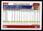 2004 Topps #152  Mike Lieberthal  Back Thumbnail