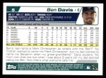2004 Topps #5  Ben Davis  Back Thumbnail
