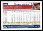 2004 Topps #390  Chipper Jones  Back Thumbnail