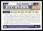 2004 Topps #719   -  Todd Helton All-Star Back Thumbnail