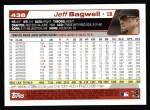 2004 Topps #438  Jeff Bagwell  Back Thumbnail