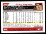 2004 Topps #216  Jimmy Haynes  Back Thumbnail
