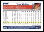 2004 Topps #480  Todd Walker  Back Thumbnail