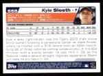 2004 Topps #668  Kyle Sleeth  Back Thumbnail