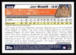 2004 Topps #309   -  Jon Knott First Year Back Thumbnail