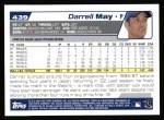 2004 Topps #439  Darrell May  Back Thumbnail