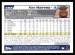 2004 Topps #462  Ken Harvey  Back Thumbnail