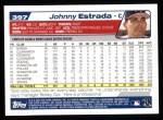 2004 Topps #397  Johnny Estrada  Back Thumbnail
