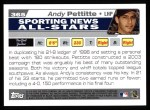 2004 Topps #365   -  Andy Pettitte All-Star Back Thumbnail