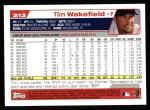 2004 Topps #213  Tim Wakefield  Back Thumbnail