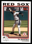 2004 Topps #213  Tim Wakefield  Front Thumbnail
