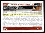 2004 Topps #297   -  Anthony Acevedo First Year Back Thumbnail