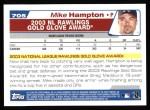 2004 Topps #705   -  Mike Hampton Golden Glove Back Thumbnail