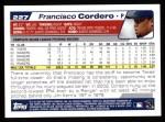 2004 Topps #227  Francisco Cordero  Back Thumbnail