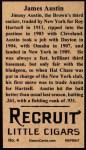 1912 T207 Reprint  James Austin  Back Thumbnail