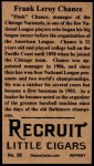 1912 T207 Reprint  Frank Chance   Back Thumbnail