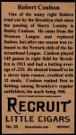 1912 T207 Reprint  Robert Coulson  Back Thumbnail