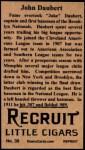 1912 T207 Reprint  Jake Daubert  Back Thumbnail