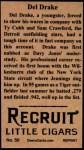 1912 T207 Reprint  Dellos Drake    Back Thumbnail