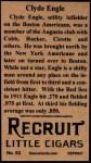 1912 T207 Reprint  Clyde Engle   Back Thumbnail
