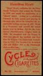1912 T207 Reprint  Ham Hyatt    Back Thumbnail