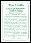 1978 TCMA The Stars of the 1960s #82  Bob Chance  Back Thumbnail
