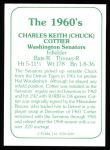 1978 TCMA The Stars of the 1960s #189  Chuck Cottier  Back Thumbnail