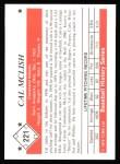 1979 TCMA The Stars of the 1950s #221  Cal McLish  Back Thumbnail