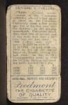 1911 T205 CLS Eddie Collins    Back Thumbnail
