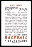 1951 Bowman REPRINT #103  Andy Pafko  Back Thumbnail