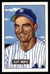 1951 Bowman REPRINT #289  Cliff Mapes  Front Thumbnail