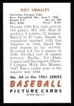 1951 Bowman REPRINT #44  Roy Smalley  Back Thumbnail