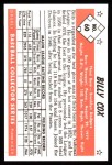 1953 Bowman B&W Reprint #60  Billy Cox  Back Thumbnail
